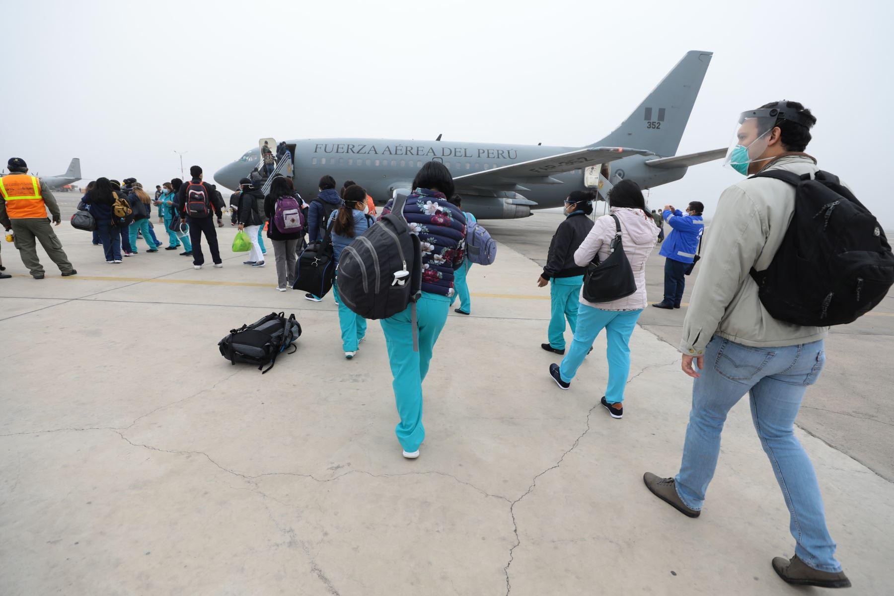 EsSalud envió dos brigadas médicas a Amazonas y San Martín para reforzar la lucha contra el coronavirus (covid-19) en dichas regiones. ANDINA/Difusión