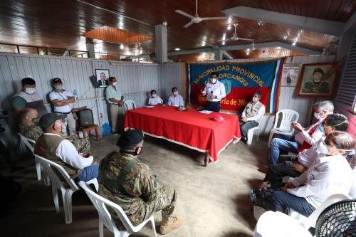 Amazonas: Primer ministro supervisa Acción Cívica y triaje Covid-19 en provincia de Condorcanqui