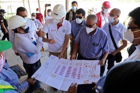 Planos para la construcción de hospitales temporales para casos de covid-19 en la región Amazonas.