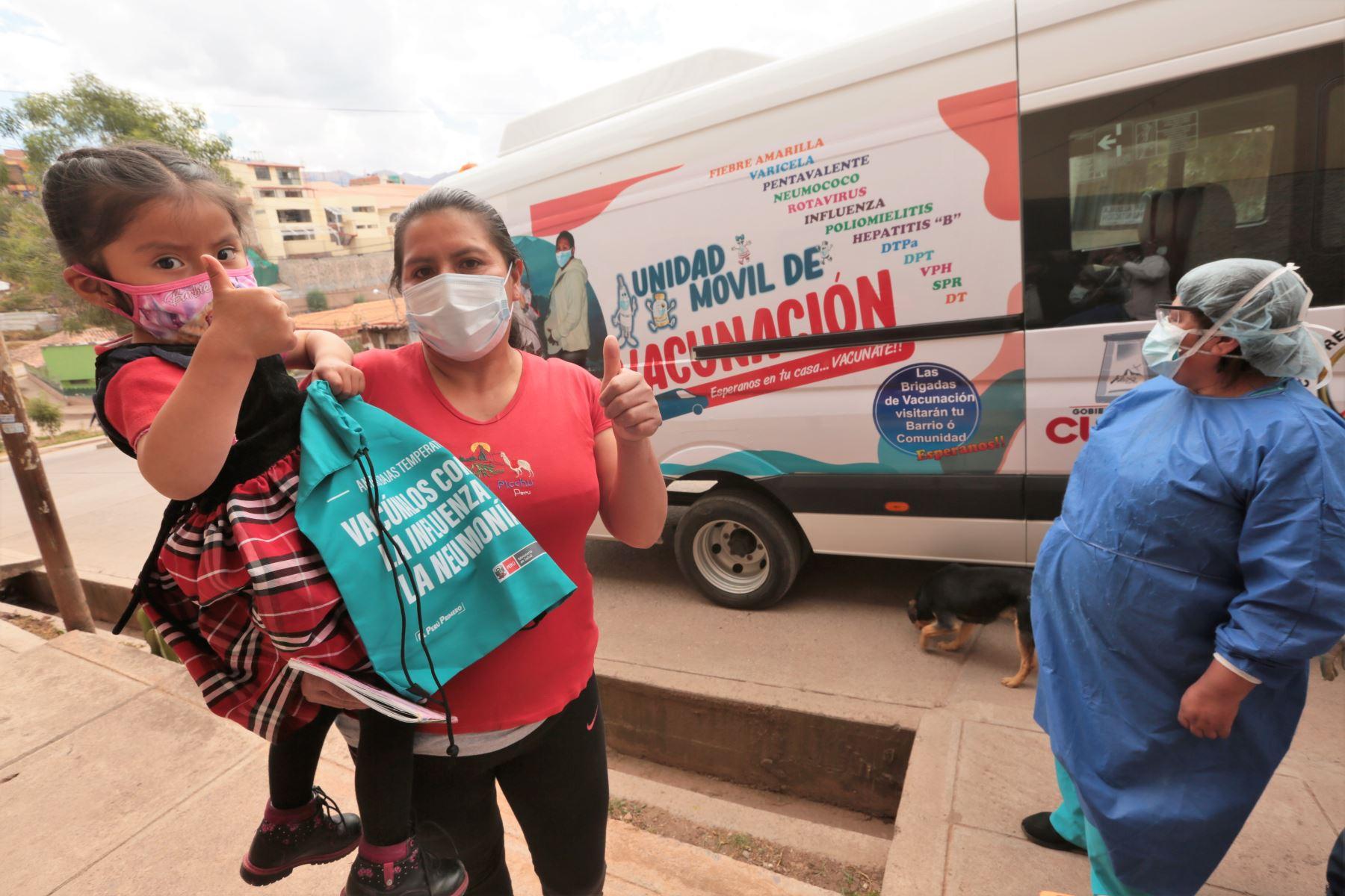 Brigadas móviles de vacunación llevarán atención a población vulnerable en el Cusco. Foto: ANDINA/Difusión