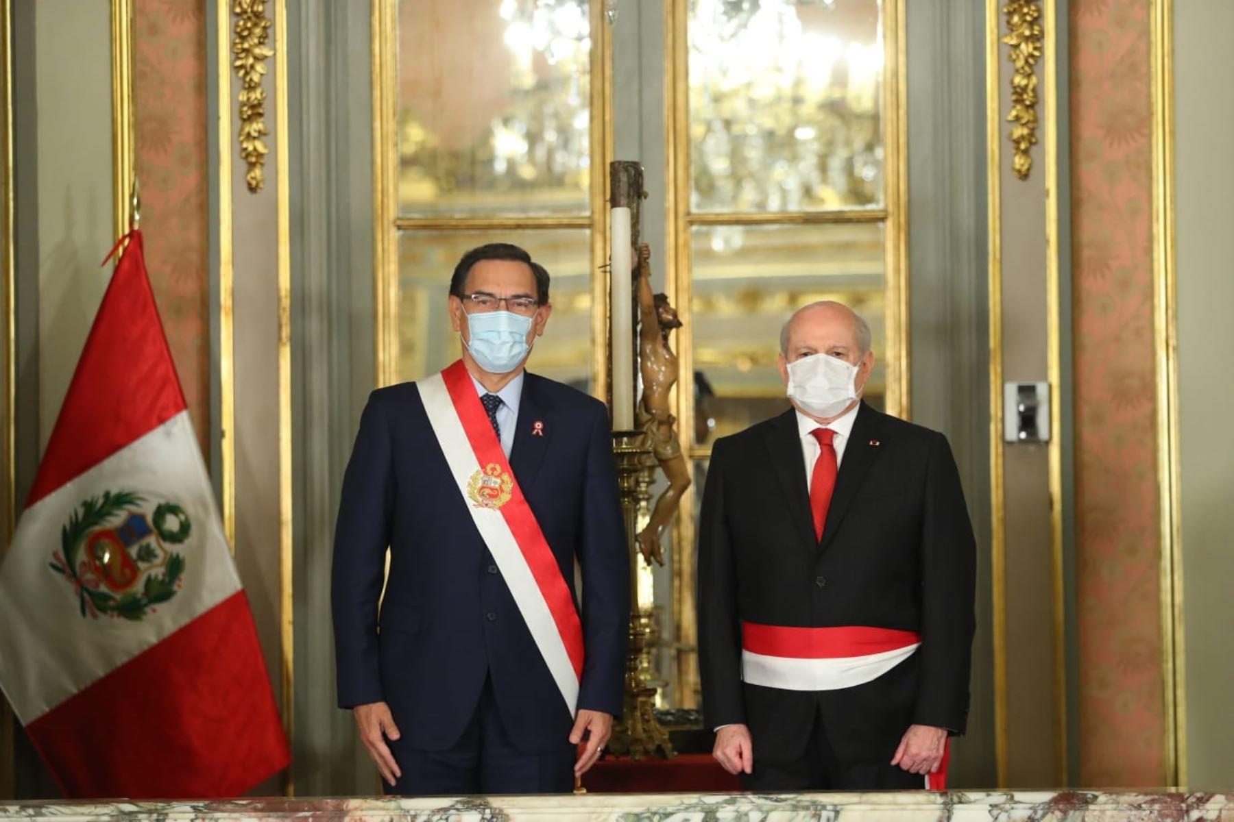 Pedro Cateriano jura como nuevo presidente del Consejo de Ministros . Foto: ANDINA/ Prensa Presidencia
