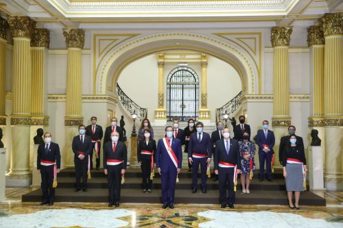 Fotografía oficial del nuevo Gabinete Ministerial. Foto: ANDINA/Prensa Presidencia.