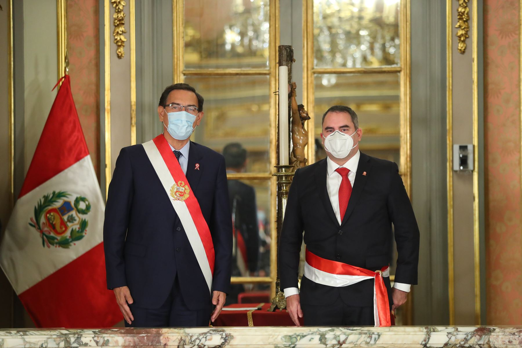 Presidente Martín Vizcarra tomo juramento de Rafael Belaunde Llosa como ministro de Energía y Minas. Foto: ANDINA/Prensa Presidencia