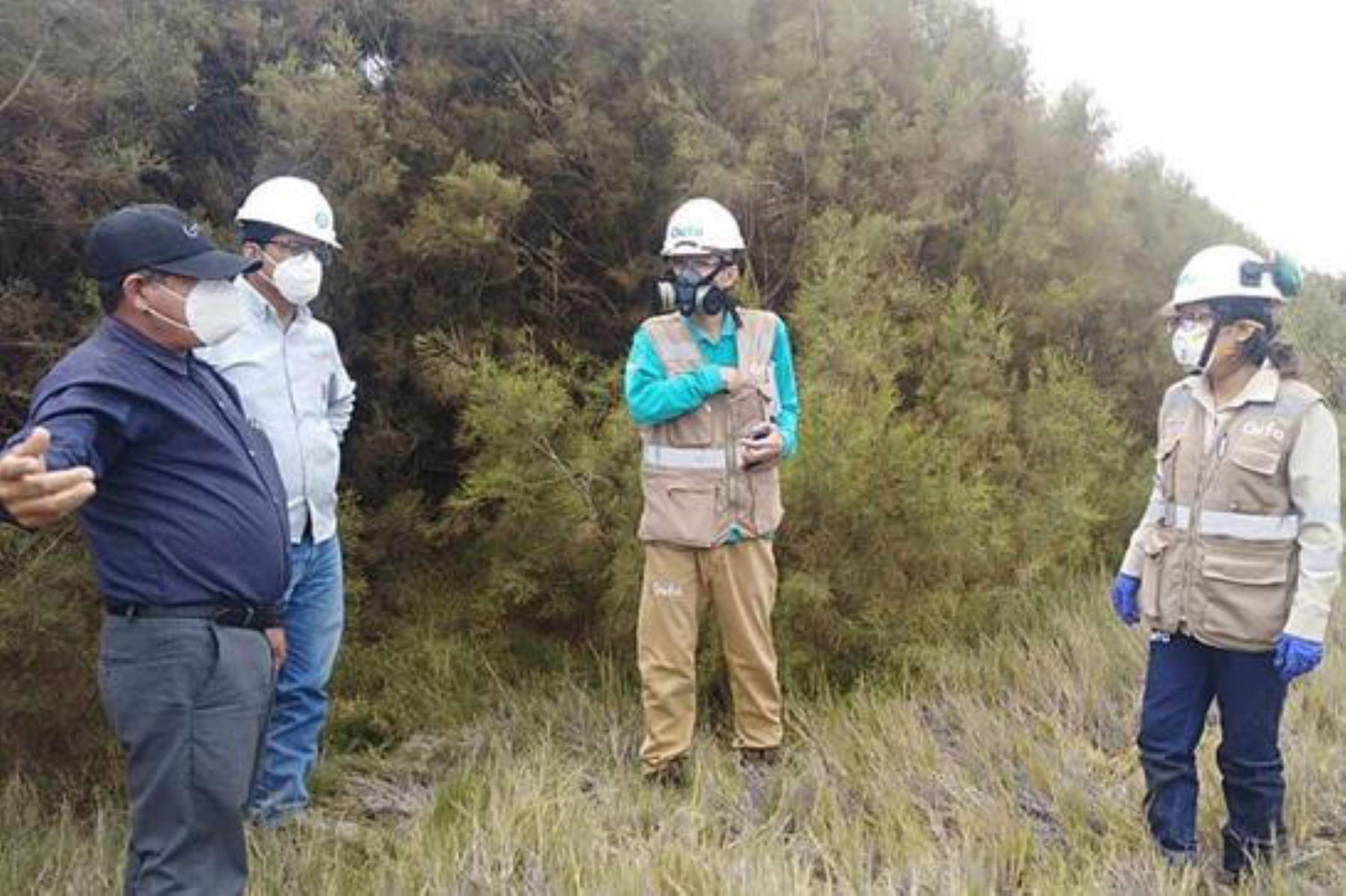 Los profesionales del OEFA que supervisan el derrame cumplen los protocolos de prevención del covid-19. Foto: ANDINA/Difusión