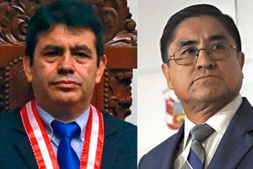 Exmagistrados Tomás Gálvez y César Hinostroza figuran en la investigación. Foto:  ANDINA/difusión.