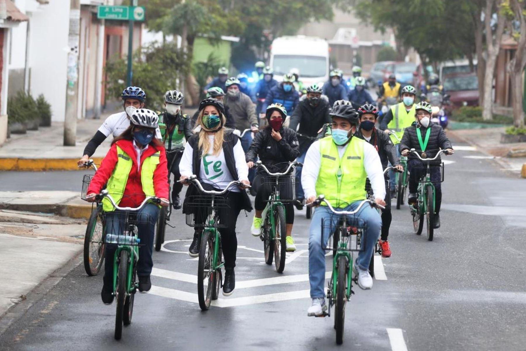 ATU destaca fomento de la bicicleta en La Molina para evitar propagación del covid-19. Foto: ANDINA/Difusión.