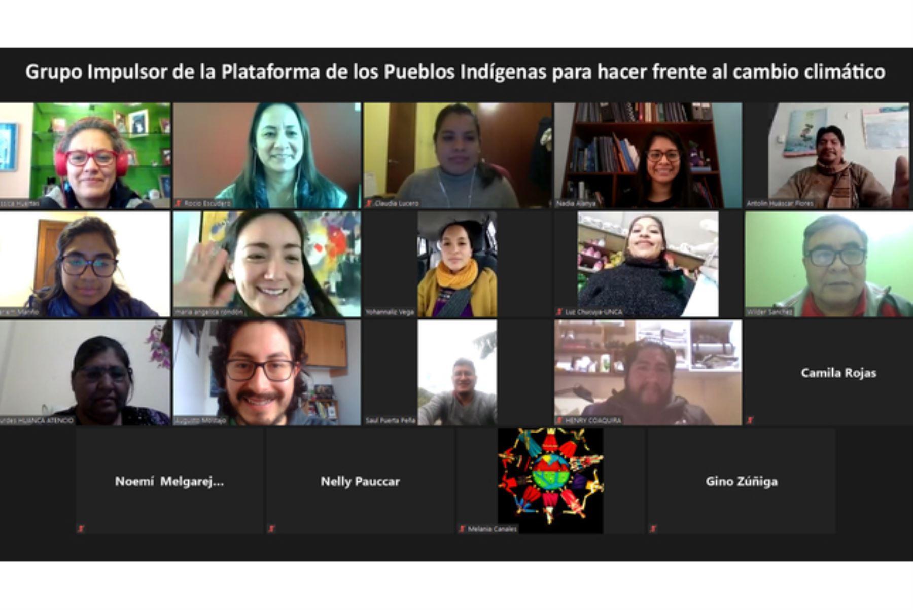El grupo impulsor de la plataforma de los pueblos indígenas frente al cambio climático sostendrá reunión virtual el 6 de agosto. Foto: ANDINA/Difusión
