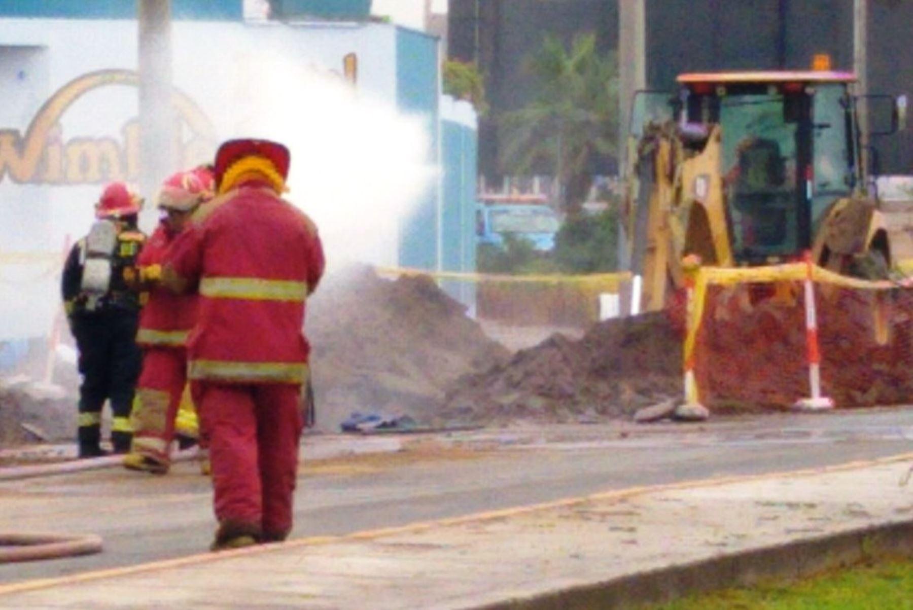 Fuga de gas en San Miguel. Foto: @marioenriqe