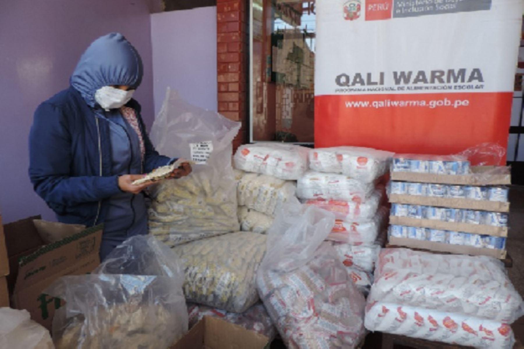 Programa Qali Warma atiende a casi 170,000 escolares de comunidades indígenas. ANDINA/Difusión