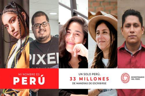 Mi Nombre es Perú: Lanzan campaña del Proyecto Especial Bicentenario