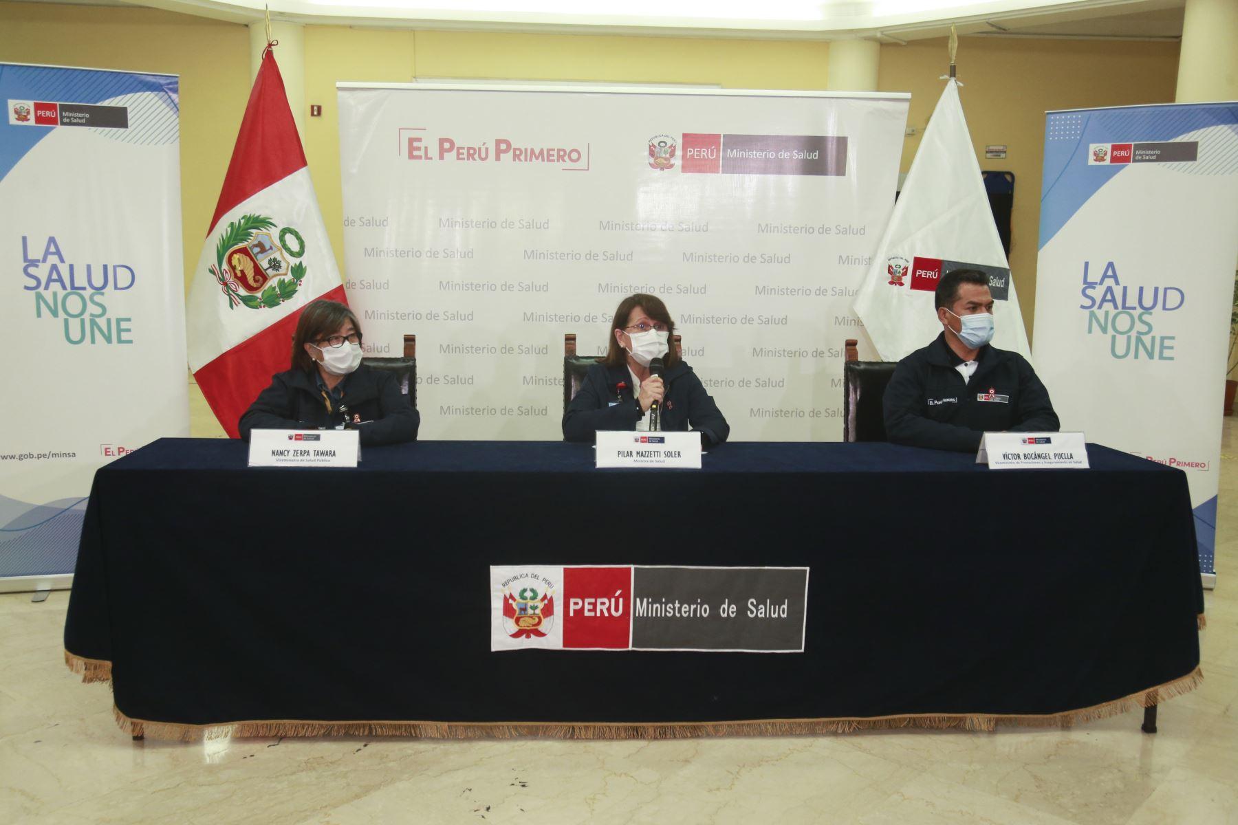 La ministra de Salud, Pilar Mazzetti manifestó que el sinceramiento de las cifras de fallecimientos por la pandemia del nuevo coronavirus (covid-19) se hará de forma progresiva. Foto: Minsa