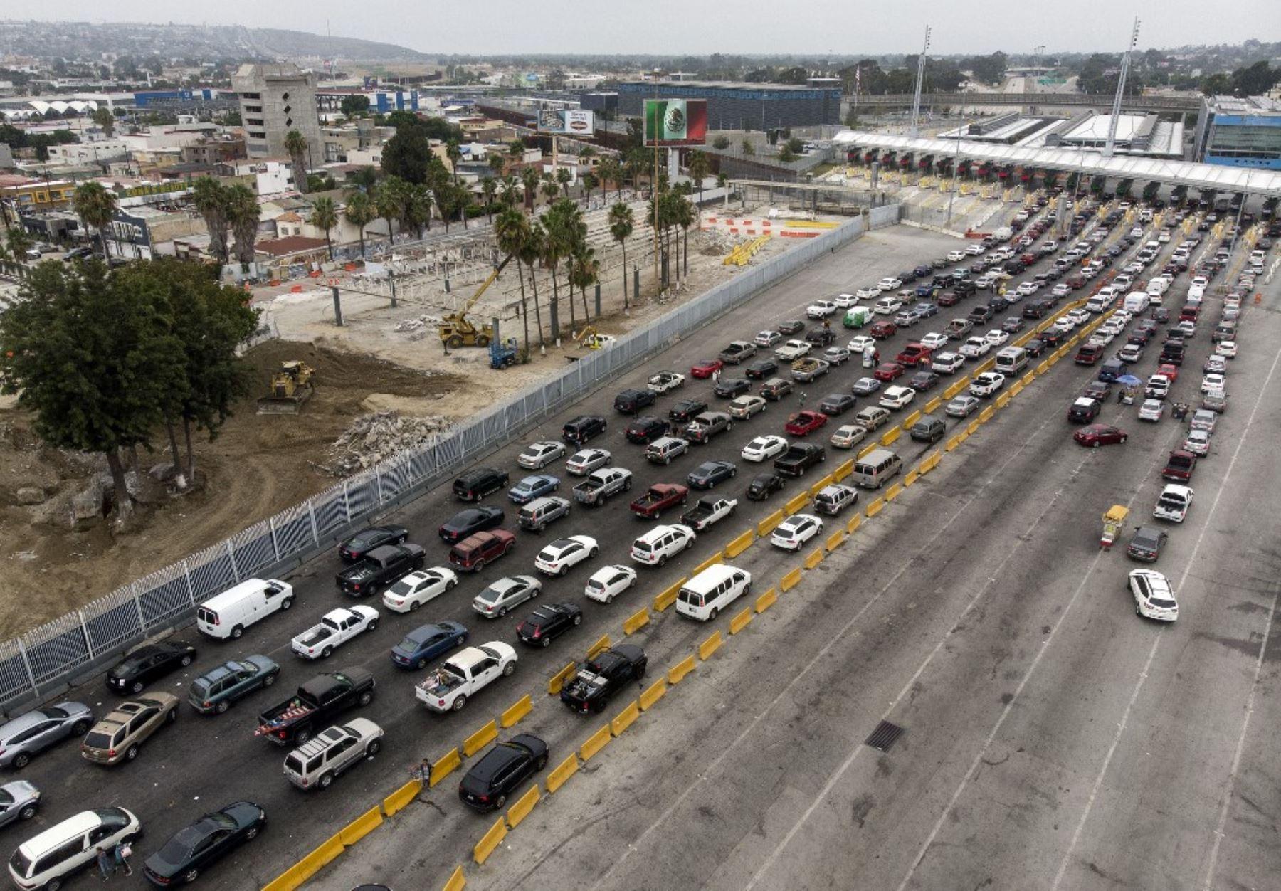 Vista aérea de las antiguas instalaciones aduaneras de México. Foto: AFP