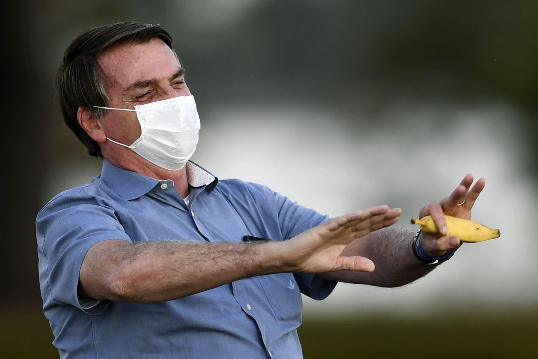 """El jefe de Estado no aportó más detalles sobre el origen y el alcance de la infección, pero fue categórico al afirmar que está """"curado"""" de la covid-19. Foto: AFP"""