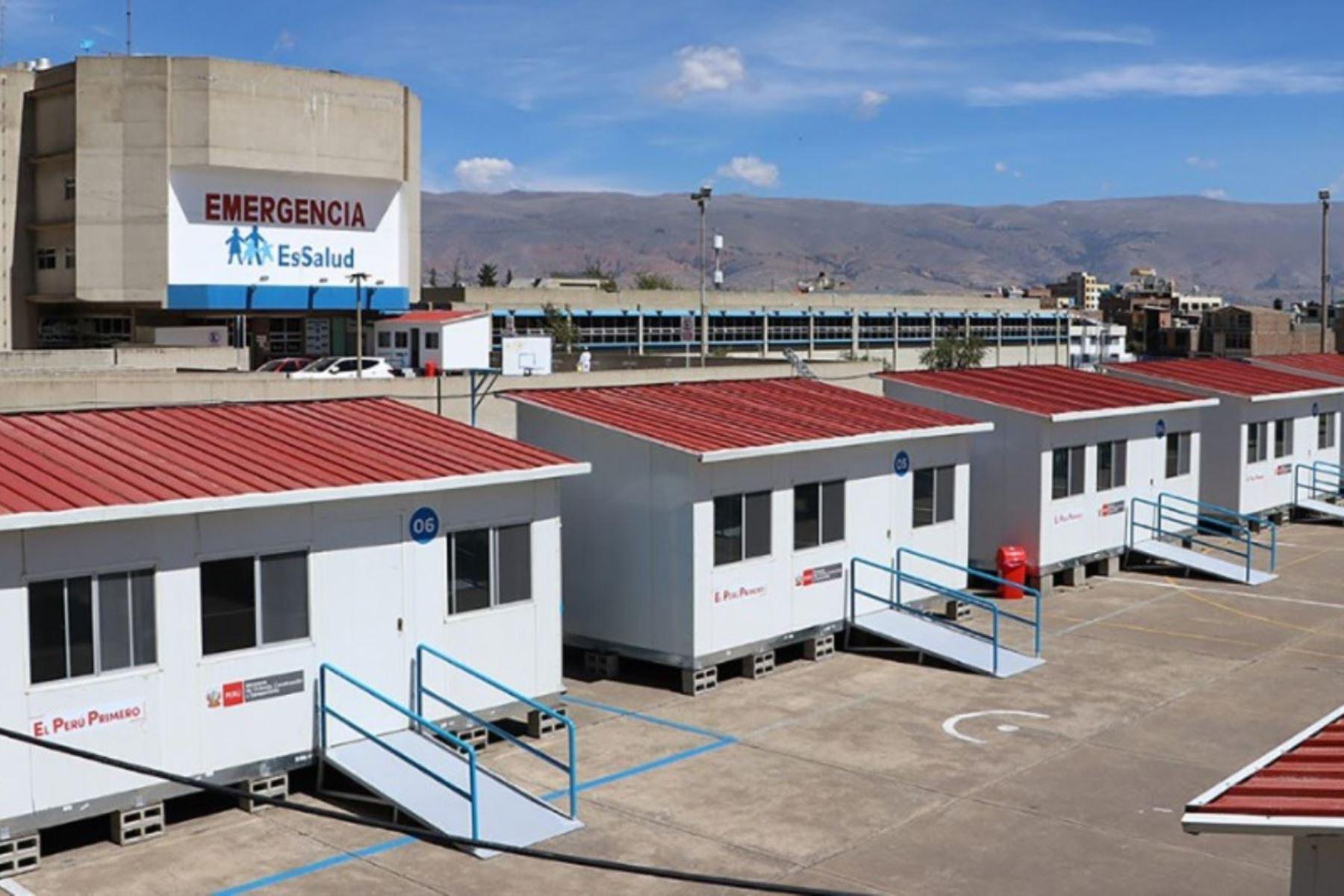 MVCS instala 387 módulos temporales en hospitales y penales del país. Foto: ANDINA/Difusión