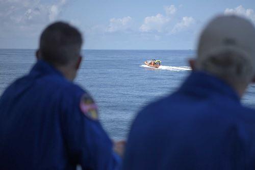 El amerizaje fue en el Golfo de México en la costa de Pensacola, Florida. Foto: NASA / AFP