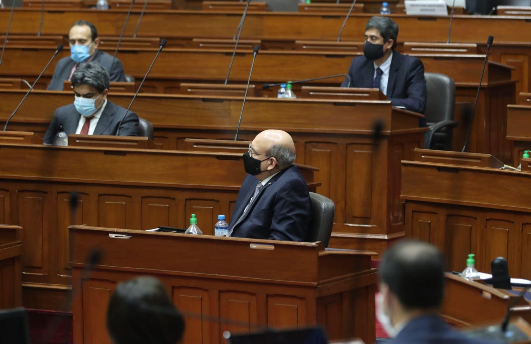 Pedro Cateriano durante su presentación en el pleno del Congreso. Foto: PCM