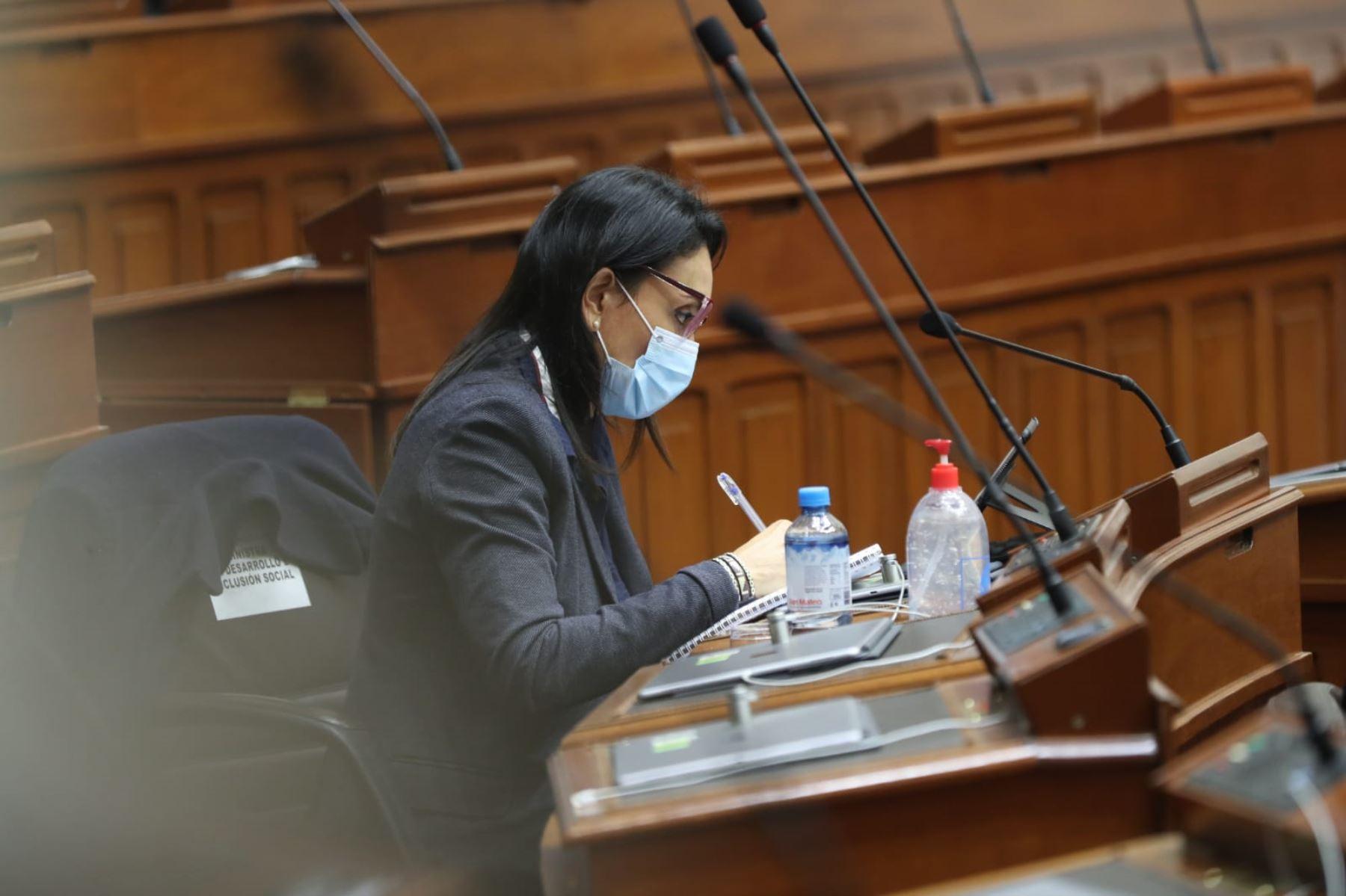 Patricia Donayre, ministra de Desarrollo e Inclusión Social. Foto: PCM