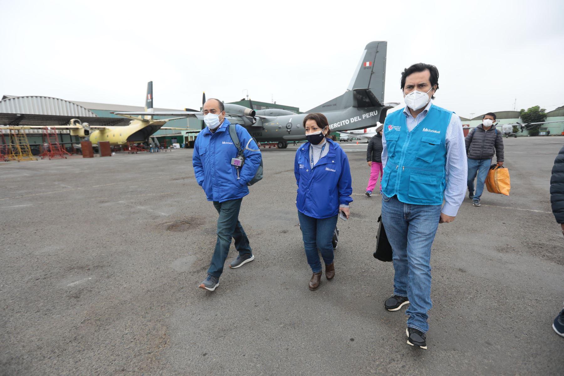Delegación de Essalud parte a Huánuco llevando material médico.  Foto: ANDINA / Essalud