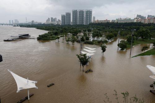 Fuertes lluvias causan 13 muertos y 13 desaparecidos en Corea del Sur