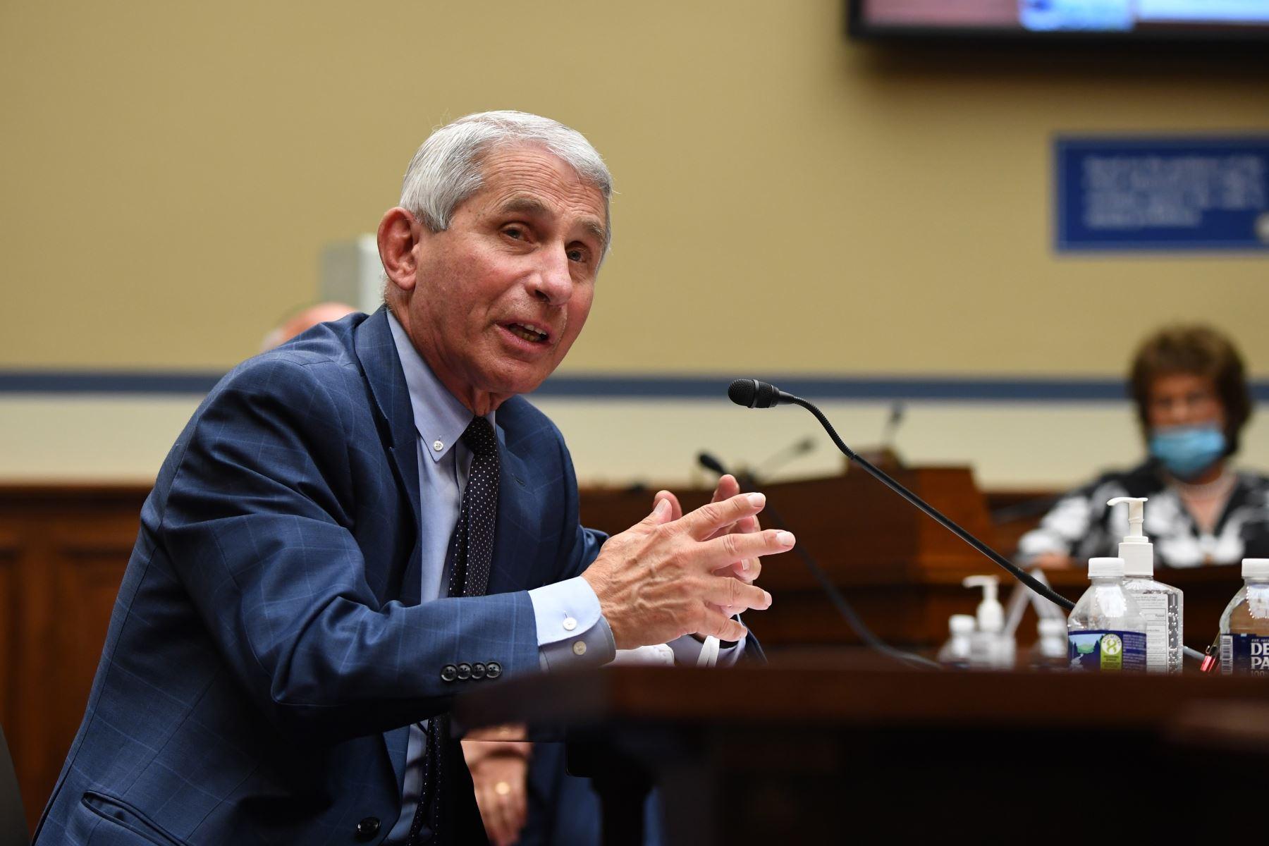 El principal epidemiólogo de EE. UU., Anthony Fauci, durante una intervención en el Congreso estadounidense. Foto: EFE