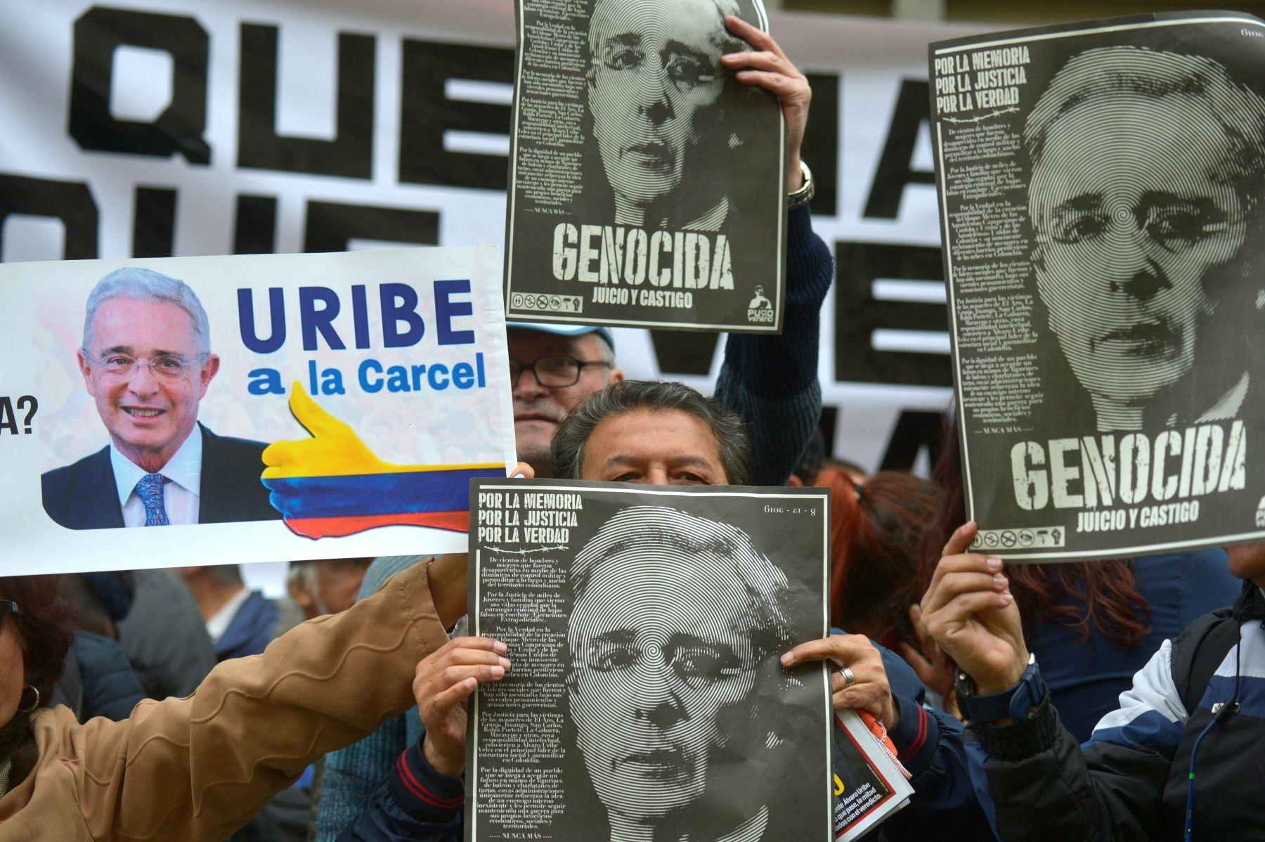 """""""La privación de mi libertad me causa profunda tristeza por mi señora, por mi familia y por los colombianos"""". Foto: AFP"""