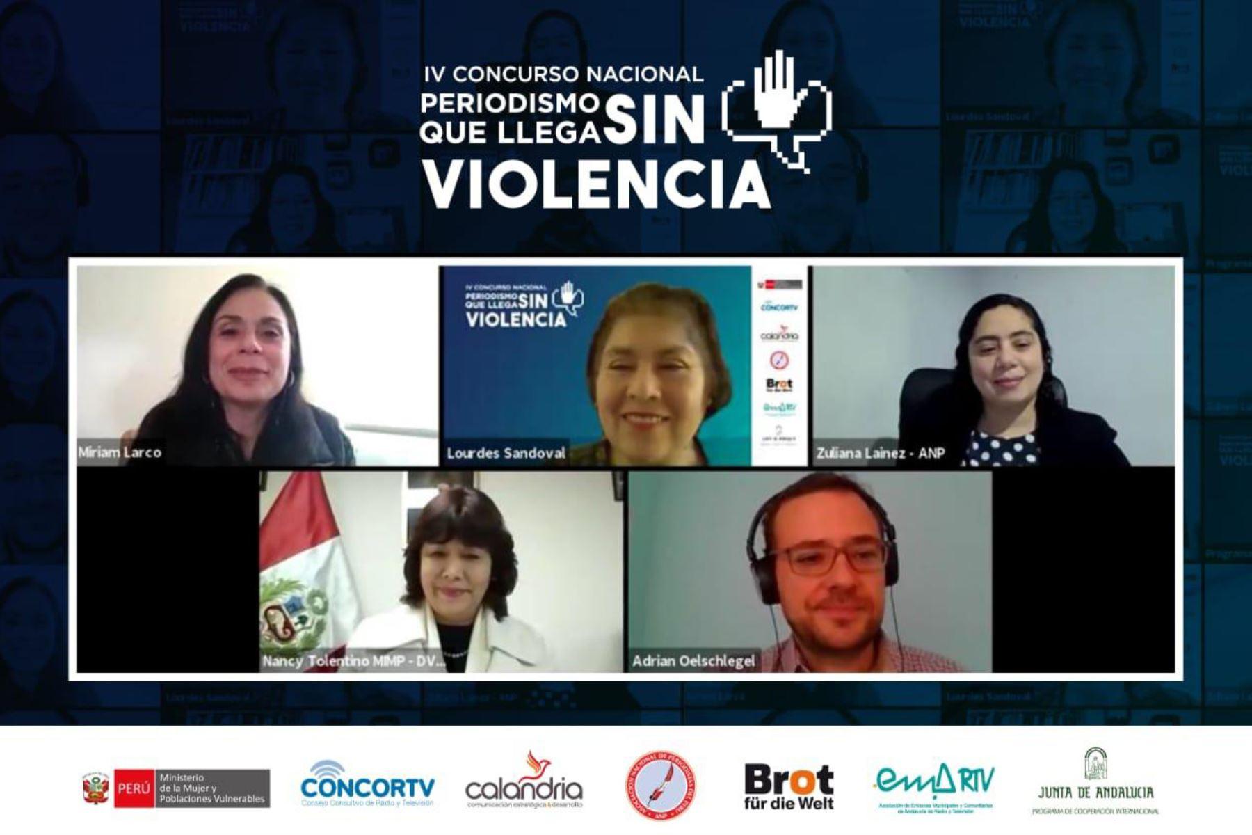 La cuarta edición del concurso Periodismo que llega sin violencia tiene el objetivo de fomentar la responsabilidad social del periodista. Foto: ANDINA/Mimp