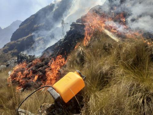 Sernanp invocó a la población que vive en zonas agrícolas evitar la quema de pastizales para no provocar incendios forestales que afectan también a áreas naturales protegidas. ANDINA/Difusión