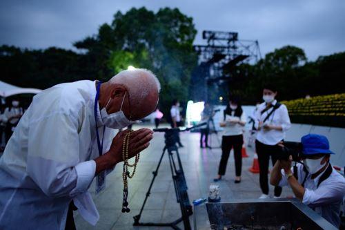 Japón conmemora 75 años de la primera bomba atómica en Hiroshima