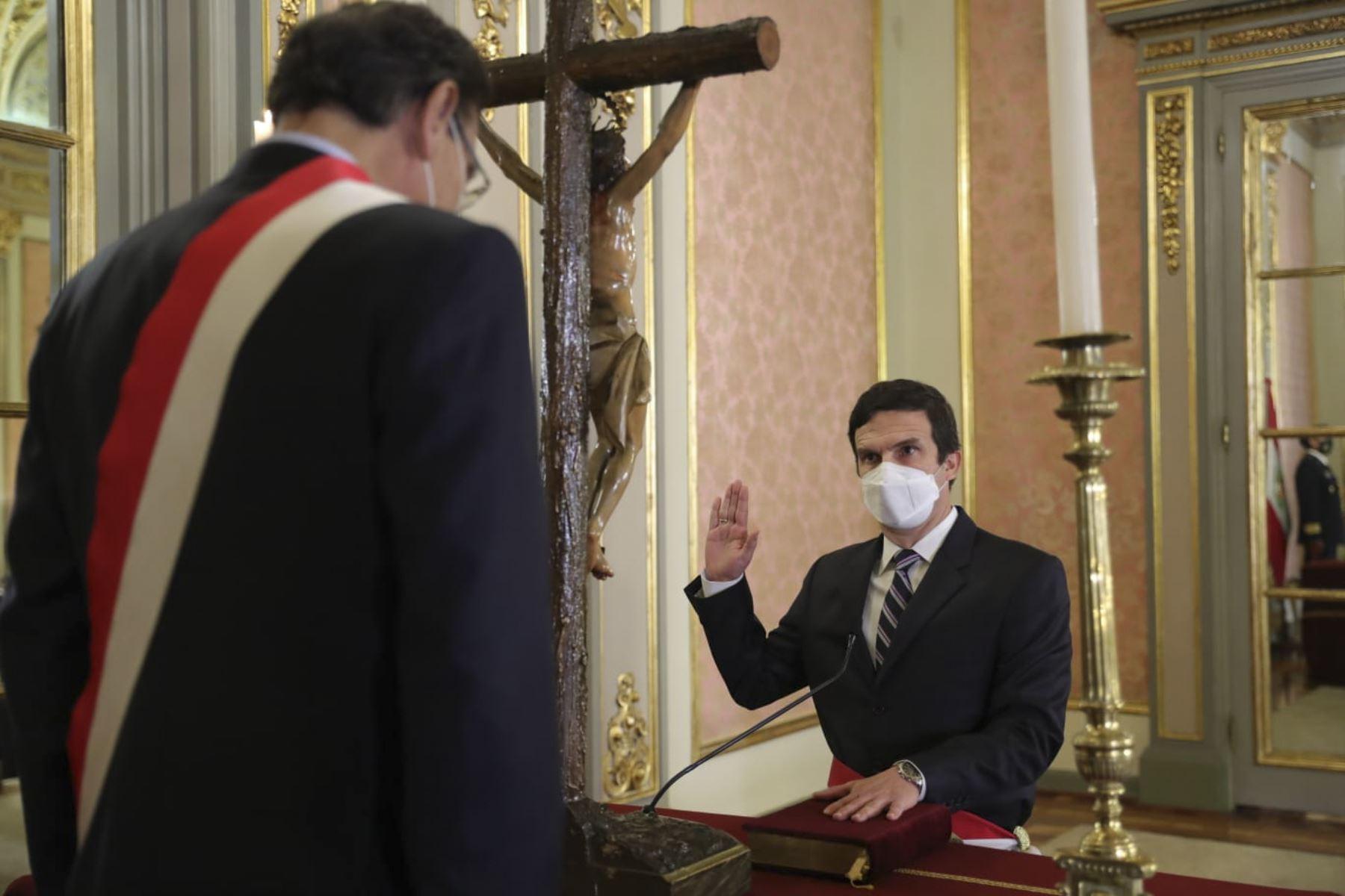 Ministro de Energía y Minas, Luis Miguel Inchaústegui. Foto: ANDINA/Prensa Presidencia