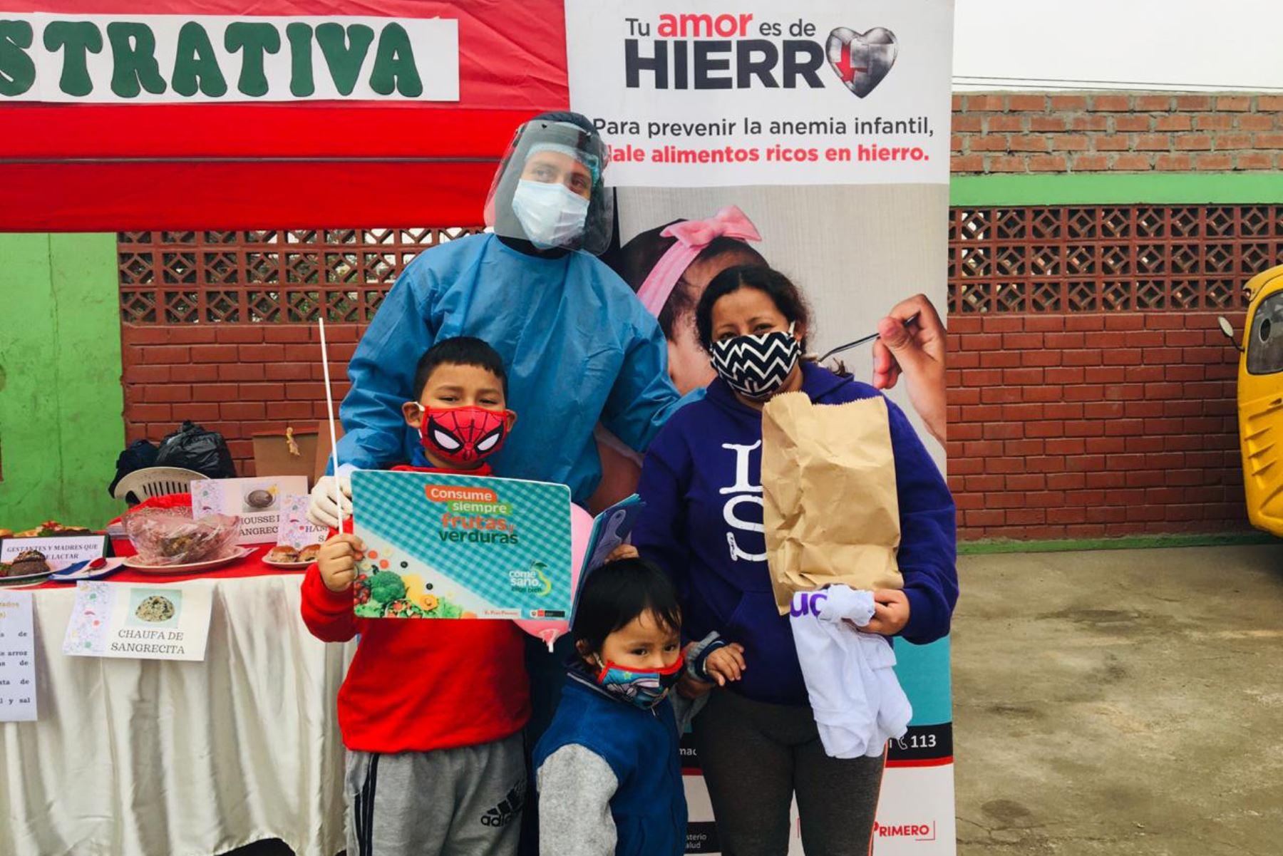 Diris Lima Sur brinda atención en salud mental, planificación familiar y vacuna a niños menores de 5 años, adultos mayores y gestantes. Foto: Diris Lima Sur