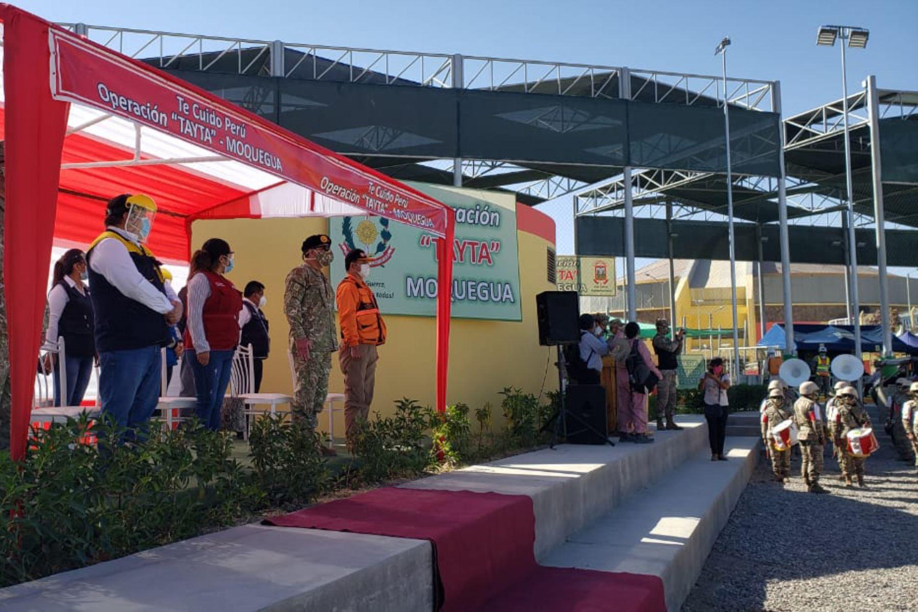 El Ejército del Perú inició campaña de salud en Moquegua junto a otras entidades del Estado a fin de ayudar a los adultos mayores y personas vulnerables frente a la covid-19 como parte del operativo Tayta.  Foto: ANDINA/Mindef