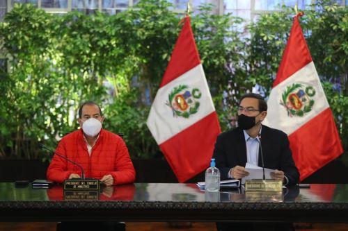 Presidente Martín Vizcarra lidera una nueva sesión del Consejo de Ministros