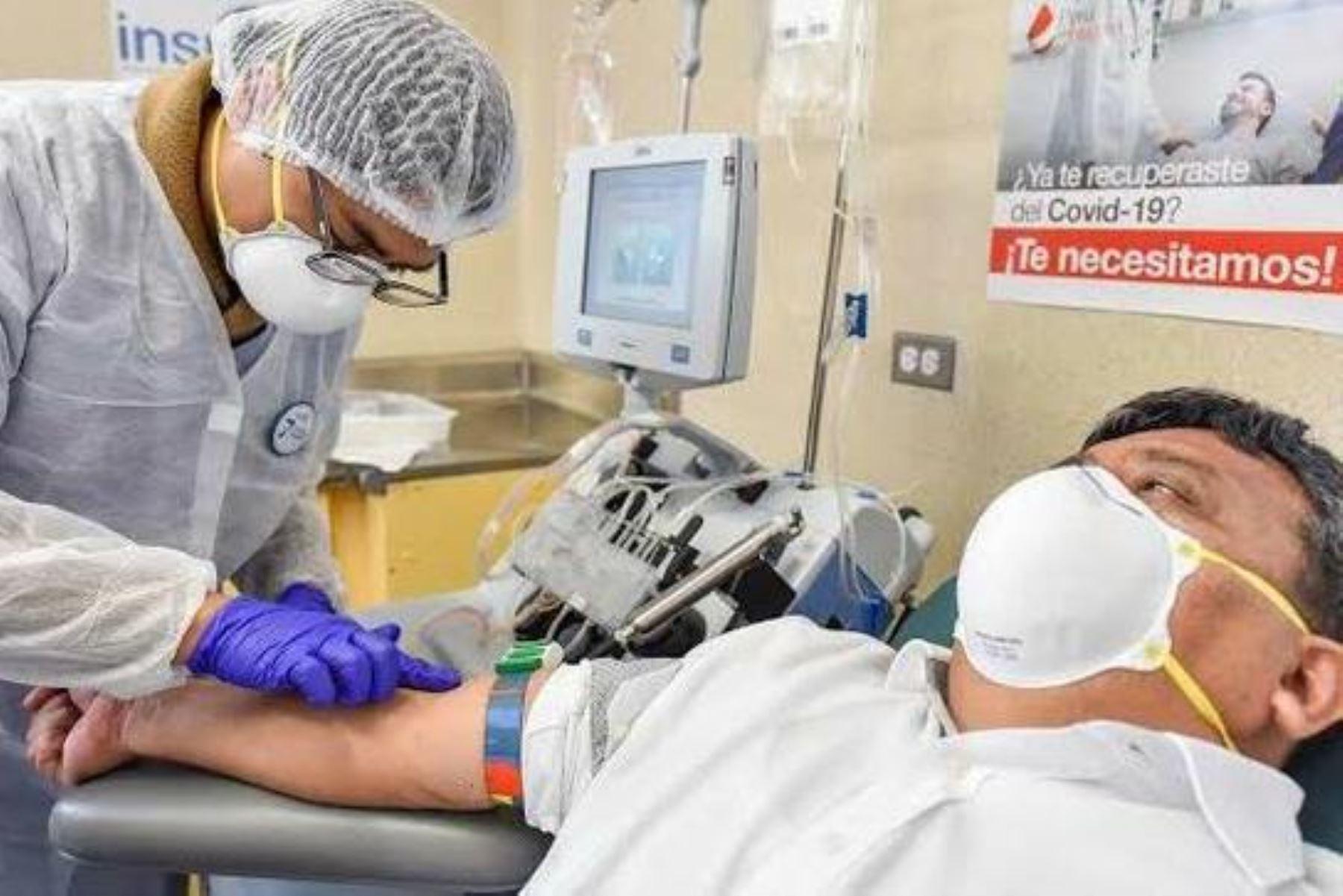 Personas recuperadas del covid-19 pueden donar plasma y ayudar a otros pacientes. Foto: ANDINA/difusión.