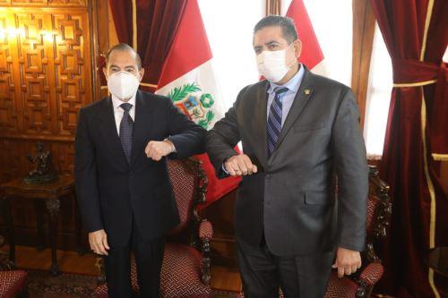 Premier, Walter Martos, se reúne con el presidente del Congreso