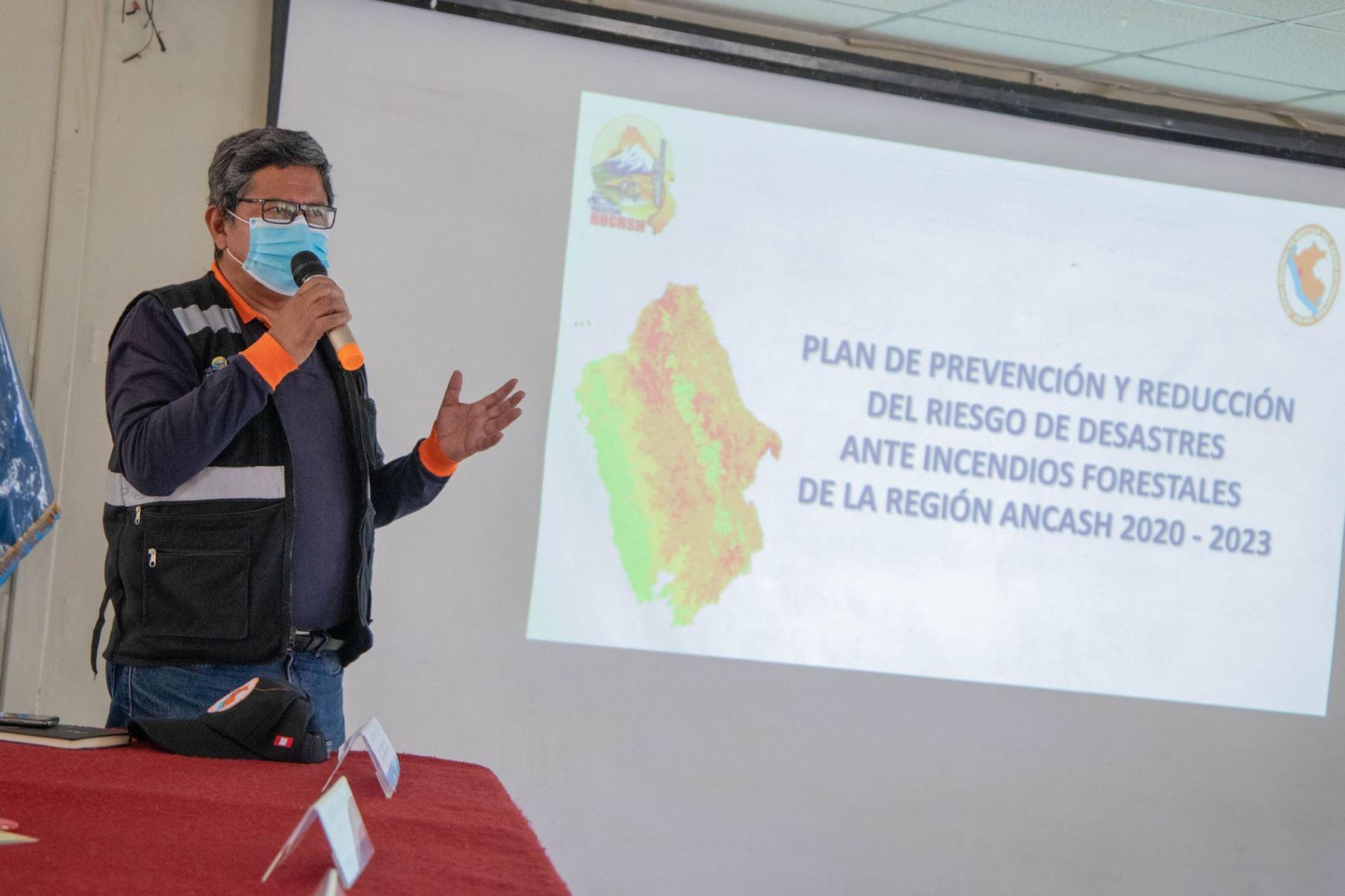 El Gobierno Regional de Áncash presentó su Plan de Prevención y Reducción de Incendios Forestales 2020-2023. Foto: ANDINA/Difusión