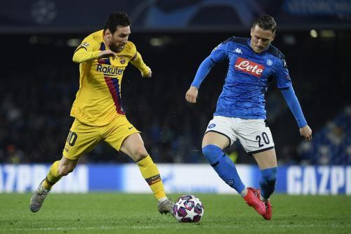 Barcelona y Nápoles juegan hoy el partido d e vuelta por los octavos de final de la Liga de Campeones