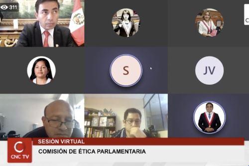 Integrantes de la Comisión de Ética del Congreso. ANDINA/Difusión