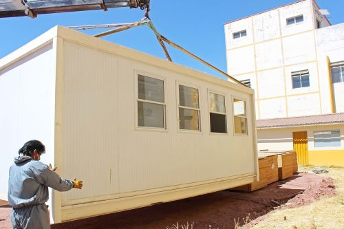 Coronavirus: inician trabajos para instalar el nuevo centro de atención y aislamiento temporal en Juliaca