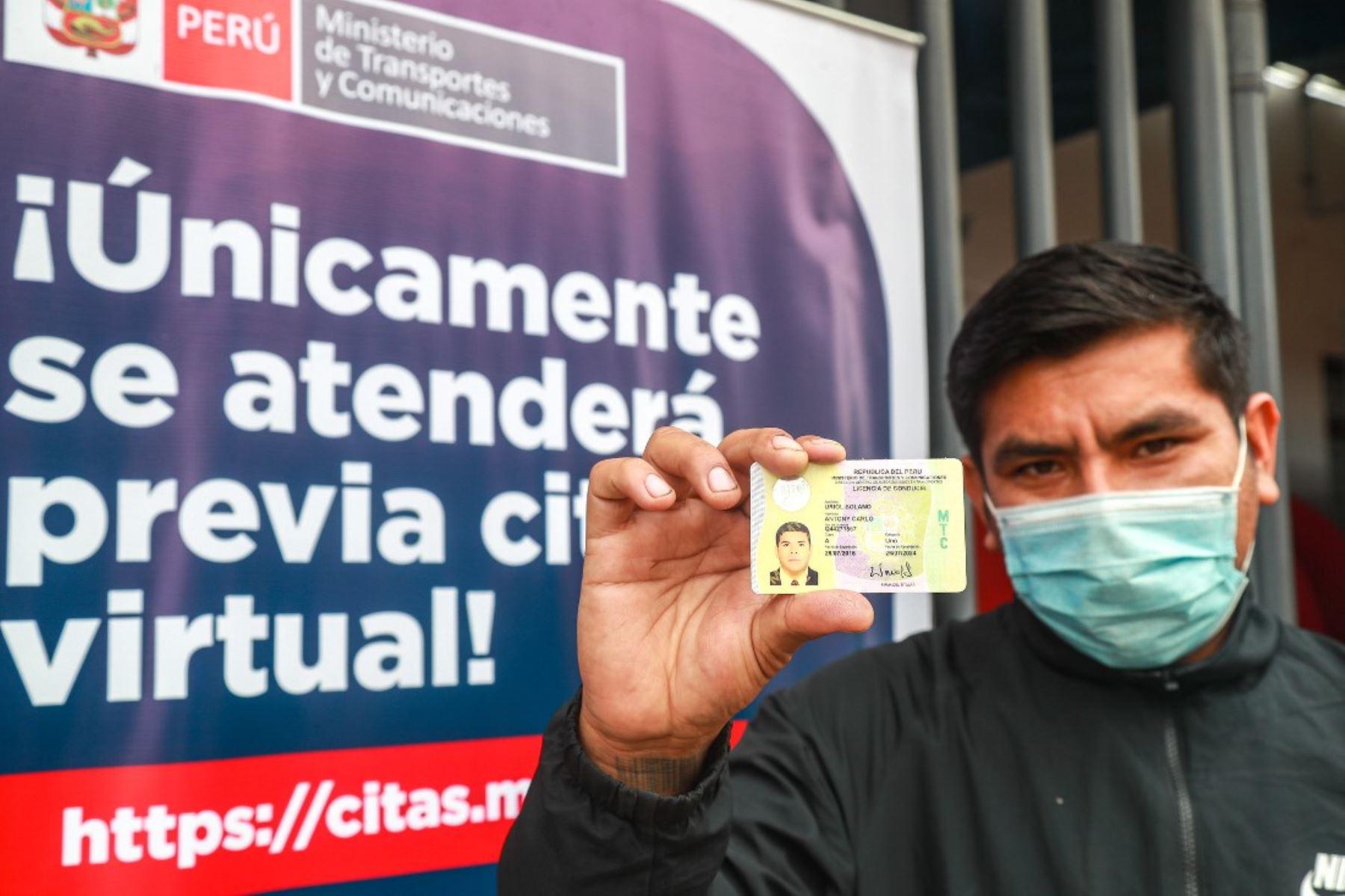 MTC entregó 16,044 licencias de conducir en las primeras 8 semanas de reactivación. Foto: ANDINA/Difusión.