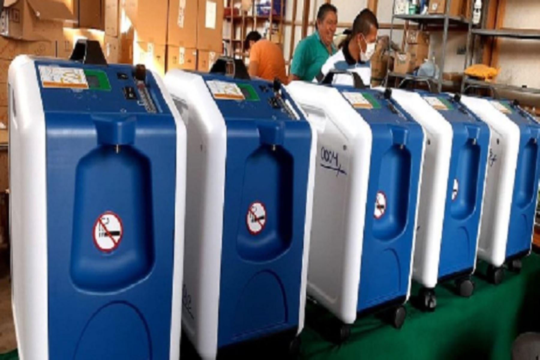 Los 187 concentradores de oxígeno serán distribuidos para cubrir las necesidades de atención de pacientes con covid-19 de las comunidades amazónicas de las provincias de Coronel Portillo, Atalaya, Padre Abay y Purús, en Ucayali.