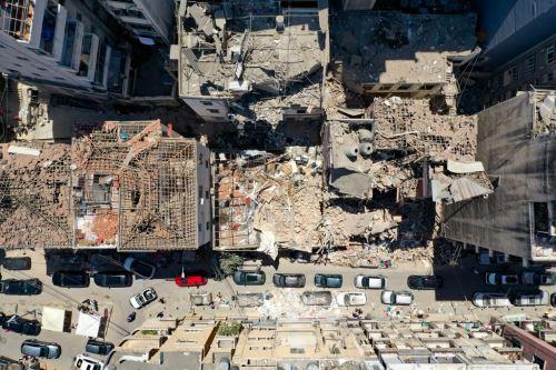 Líbano: imágenes aéreas que muestran la devastación que dejó la explosión en Beirut