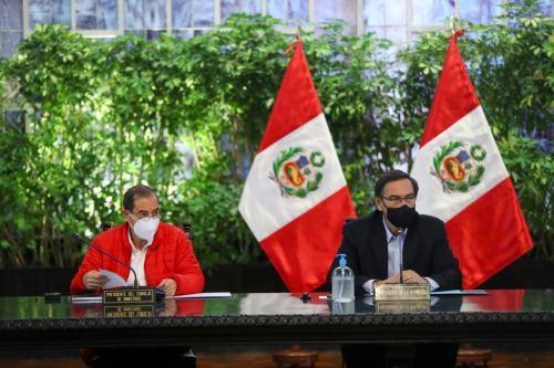 Presidente Martín Vizcarra lidera nueva sesión del Consejo de Ministros