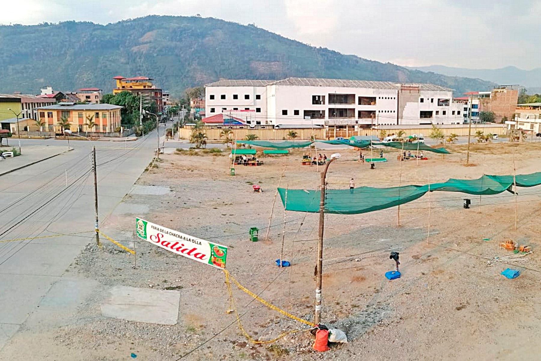 Proyecto especial Legado 2019 construirá un centro de aislamiento temporal para pacientes leves y moderados de covid-19 en Pichanaqui, región Junín. ANDINA/Difusión