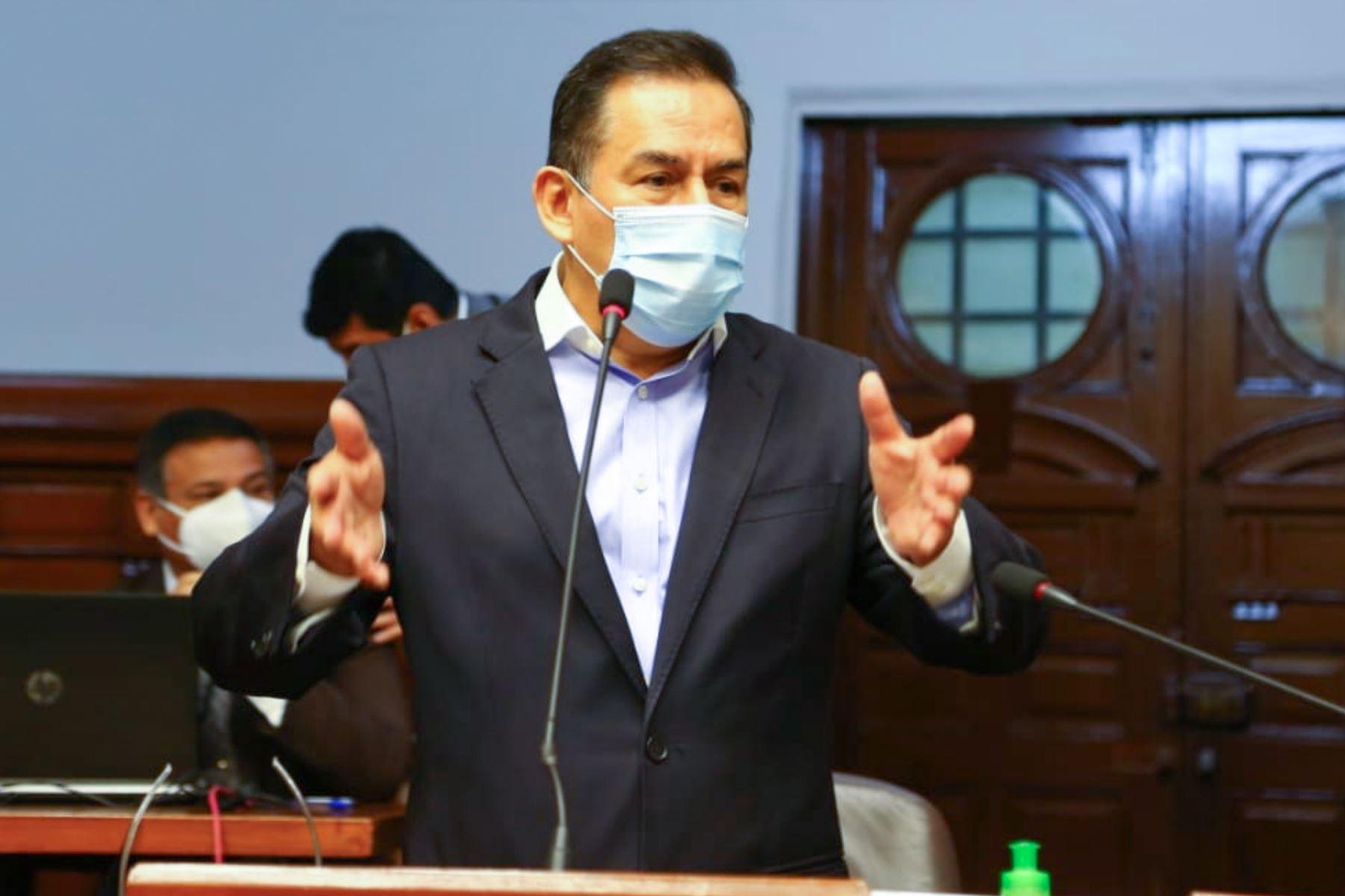 El congresista José Vega encabeza la fórmula presidencial de Unión por el Perú. Foto: ANDINA/difusión.