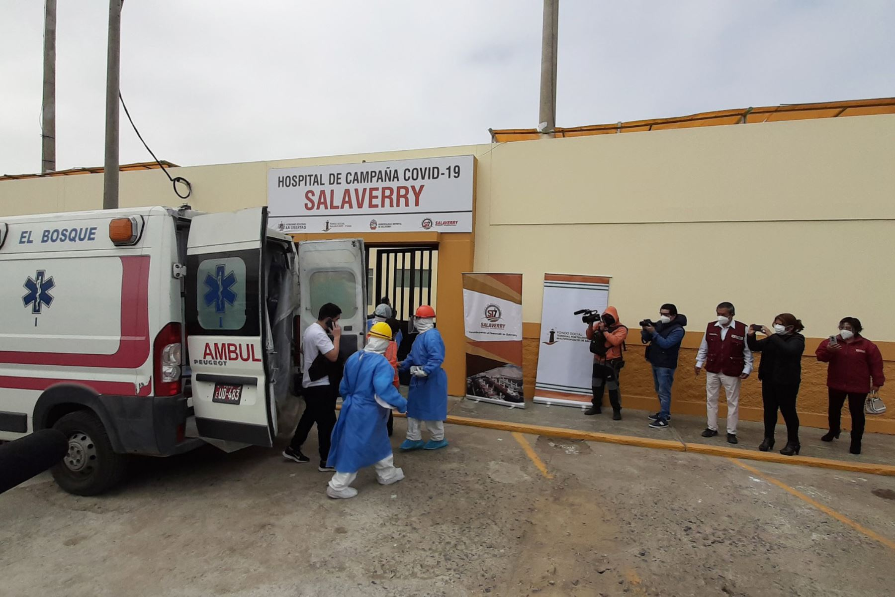 Desde el lunes recibe pacientes el hospital de campaña del distrito de Salaverry, en la región La Libertad. Foto: ANDINA/Difusión