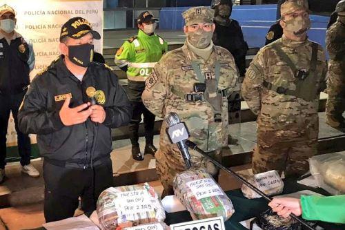 """Policía Nacional presenta material incautado en  el mega operativo policial """"Fortaleza 2020"""""""