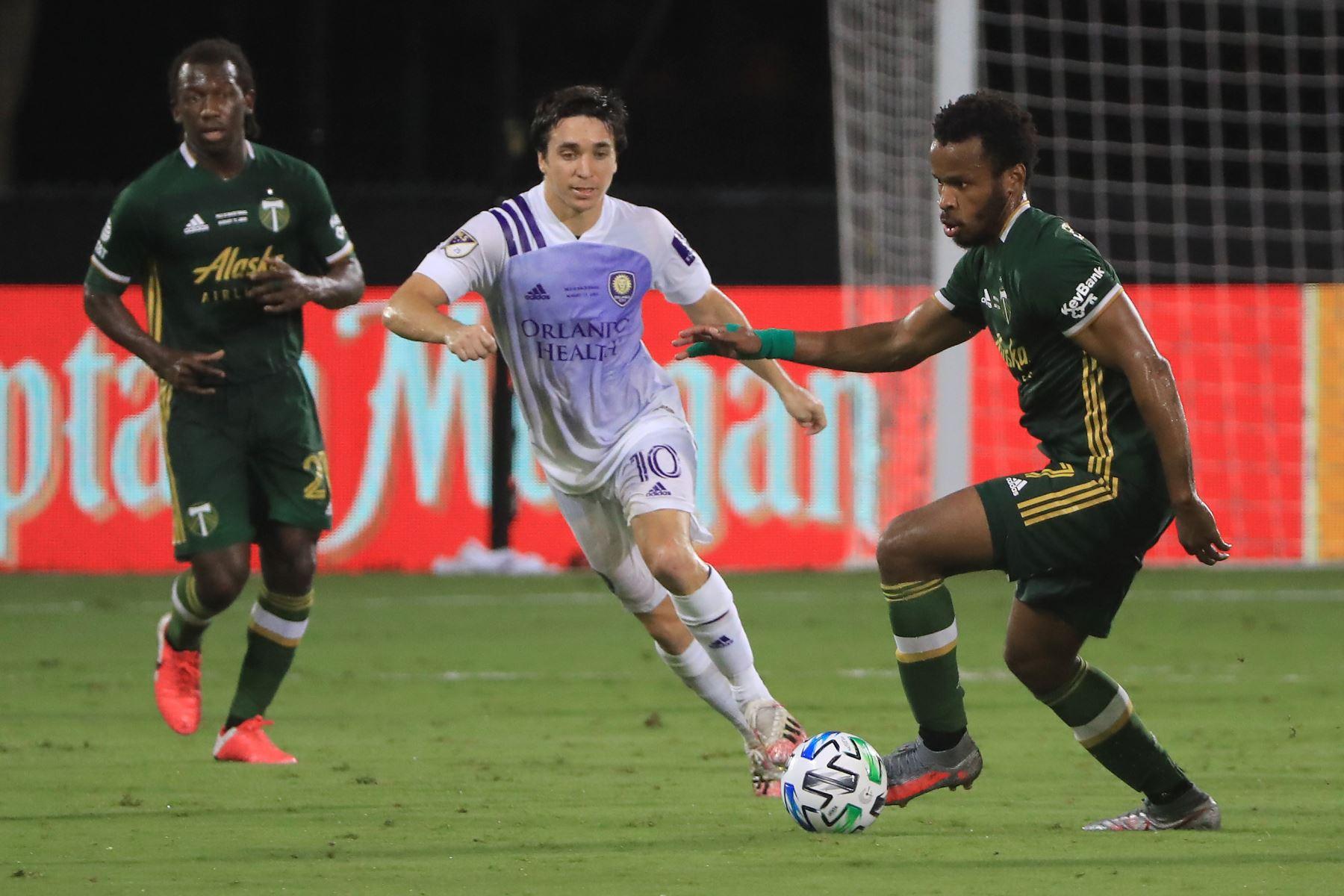 Orlando City disputa el partido final del Torneo MLS Is Back contra Portland Timbers. Foto: ANDINA/AFP