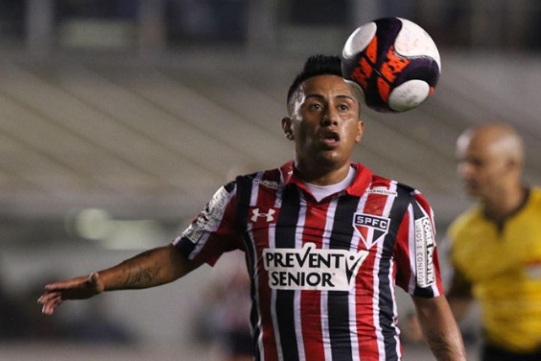 Christian Cueva debutó con el Sao Paulo el 26 junio del 2016 contra el Fluminense y con marcador a favor de 3 a 1. Foto: Difusión