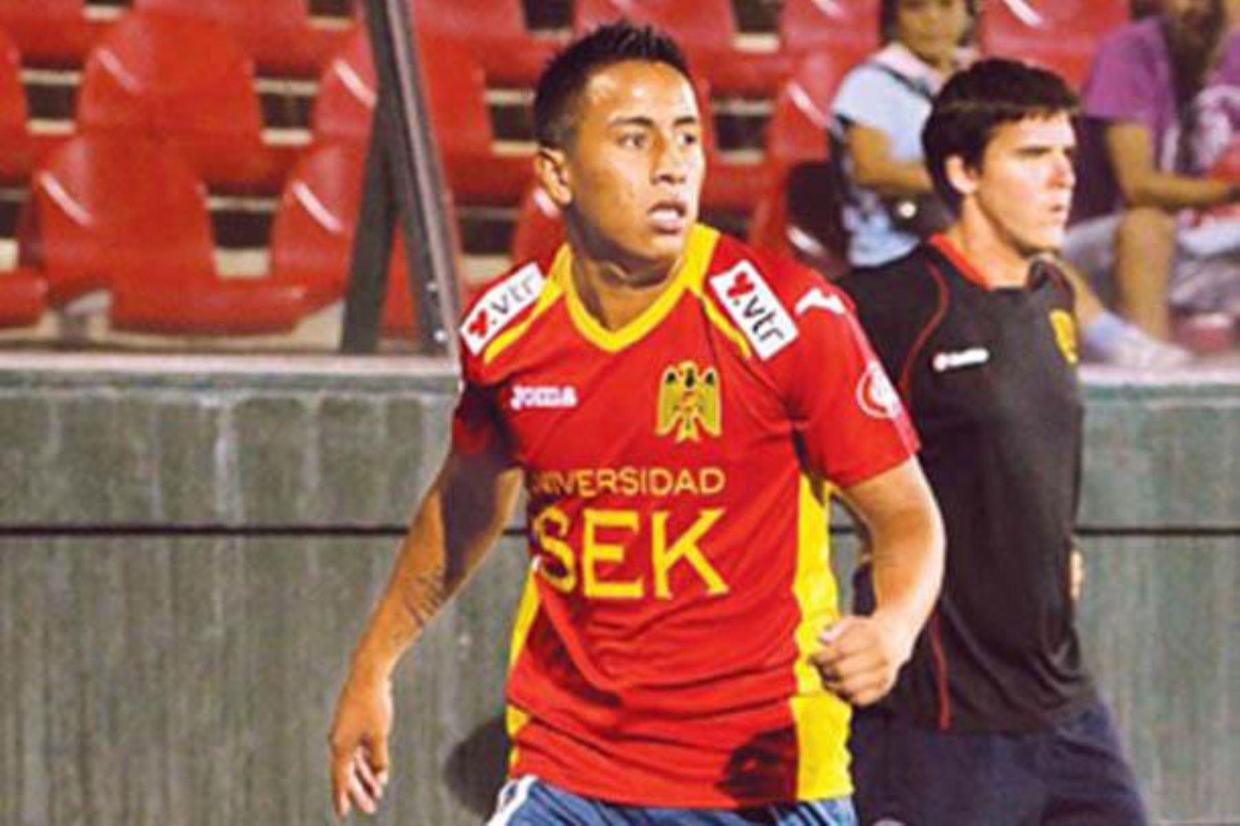 El delantero peruano, Christian Cueva, jugó una breve temporada en club Unión Española de Chile en el año 2013. Foto: Difusión