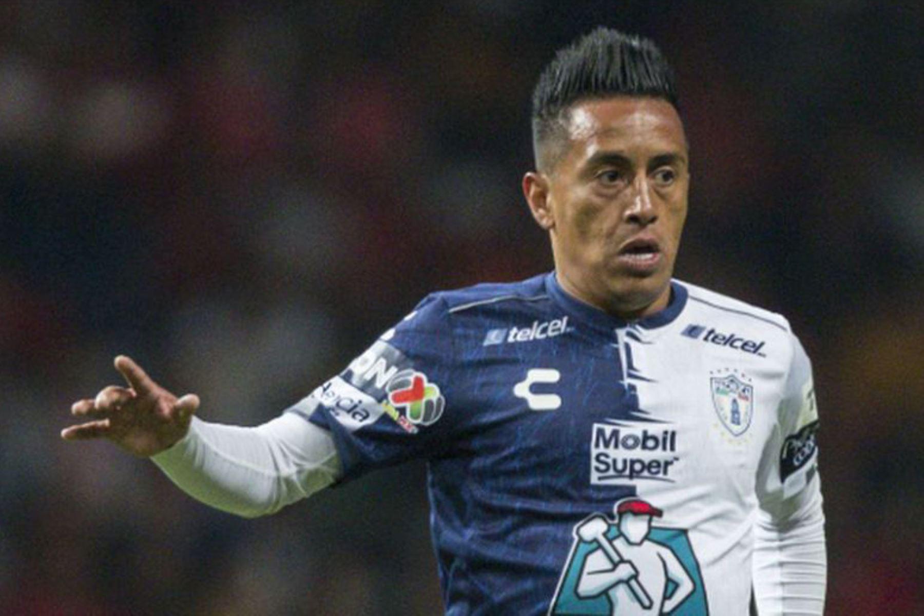 El delantero peruano Christian Cueva formó parte de Pachuca de México desde enero hasta junio 2020. Foto: Difusión